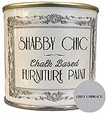 Shabby Chic Furniture Paint - Pintura a la tiza, pintura para muebles efecto tiza, para acabados envejecidos y rústicos. Color: Grey embrace 1 litro.