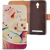 Lankashi PU Flip Leder Tasche Hülle Case Cover Schutz Handy Etui Skin Für Coolpad Porto S 5