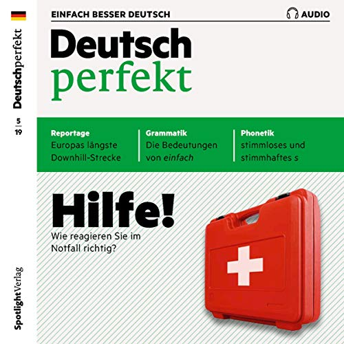 Deutsch perfekt Audio. 5/2019     Deutsch lernen Audio - Hilfe! Wie reagieren Sie im Notfall richtig?              By:                                                                                                                                 div.                               Narrated by:                                                                                                                                 div.                      Length: 1 hr and 4 mins     Not rated yet     Overall 0.0