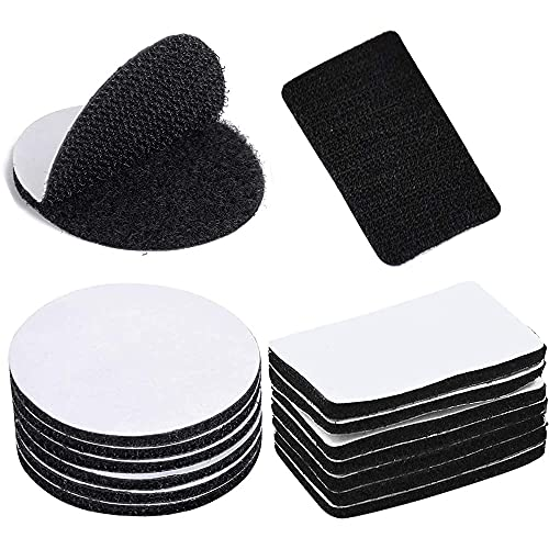 50 Piezas Cinta Velcro, Cinta Gancho Bucle Adhesivo, Auto Adhesivo Cinta,...