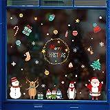 VijTIAN Pegatinas de Navidad para decoración del hogar, Bonitas Pegatinas de Navidad para Ventana, Apto para Sala de Estar, Dormitorio y Otras Decoraciones de Pared