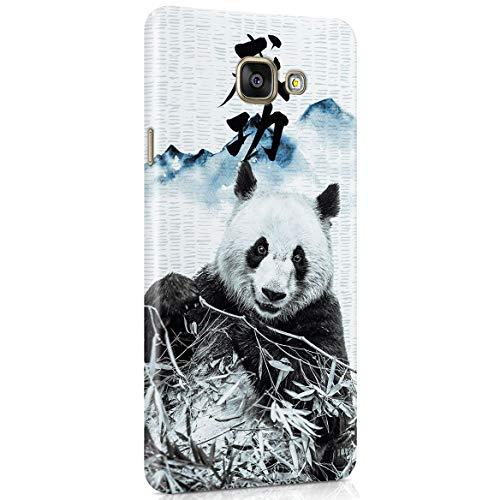MerchCandy Custodia in Plastica Rigida per Samsung Galaxy A5 2016 Cute Panda Vintage Japan Mountains Landscape Nature Japanese Letter Cover Protettiva Sottile e Leggera
