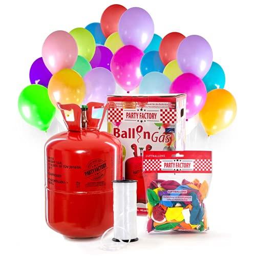 Party Factory Ladenburg Bouteille dhélium avec 50 Ballons