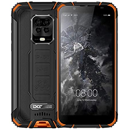 DOOGEE S59 Pro【2021】 Teléfono Resistente, Batería 10000mAh, Helio P22 Octa Core 4GB+128GB (256GB Externa SD), IP69K Móvil Antigolpes IP68, Altavoz Potente 2W, Cámara Cuatro 16MP, Dual SIM NFC Naranja