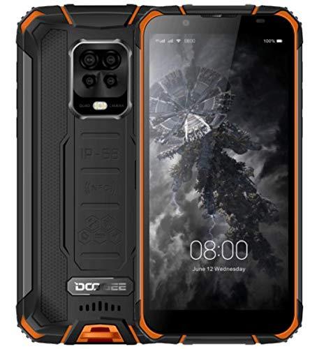 DOOGEE S59 PRO【2021】 Outdoor Handy ohne Vertrag, 10000mAh Akku, Octa Core 4GB+128GB(256GB Externe SD), IP68 Stoßfest Robustes Smartphone, 2W Lautsprecher, 16MP AI Quad-Kamera, DUAL SIM NFC Orange