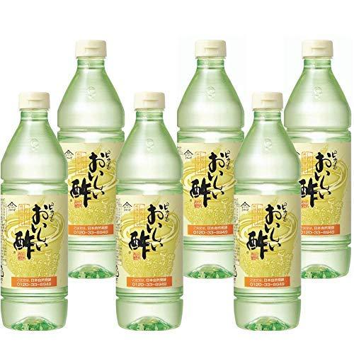 日本自然発酵 おいしい酢 900ml 6本セット ペットボトル | 健康 飲料 まろやか ドリンク 料理 甘酢 果実酢配合 美味しい 飲める 国産