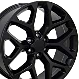 OE Wheels LLC 20 inch Rim Fits Chevy Silverado Snowflake Wheel CV98 20x9 Satin Wheel Hollander 5668