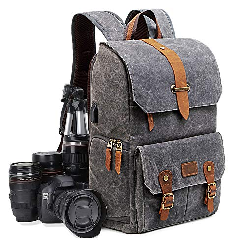 Sacs à Dos pour Appareils Photo Reflex Imperméable UBAYMAX Sacoche Sac DSLR Anti-Choc 15,6 Pouces Sac pour Ordinateur Portable Sac de Voyage Caméra pour Canon Nikon Sony Olympus (Noir)