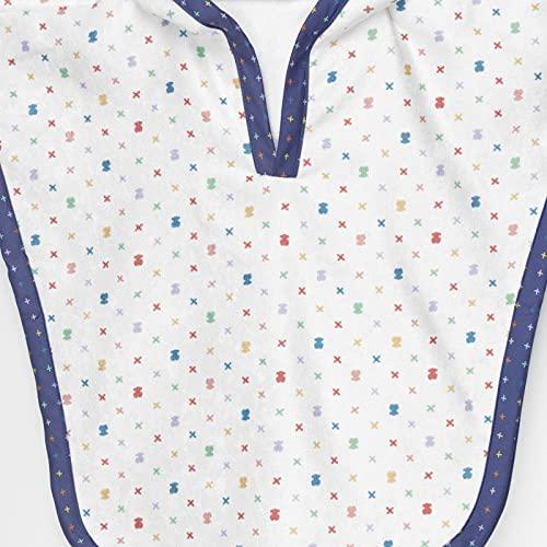 TOUS BABY - Poncho de Playa con Capucha para tu Bebé. . ( Talla S/de 18 Meses a 2 años) (XSwim Blanco)