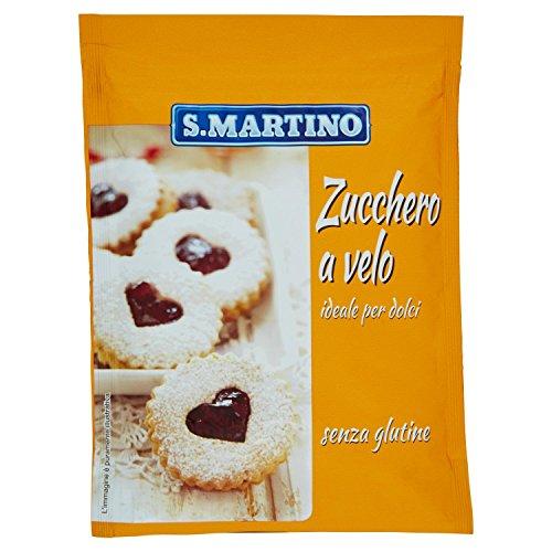 S.MARTINO - Zucchero a Velo, 1 Busta da 125 gr, Ideale per Decorare e Preparare Vari Tipi di Dolci e Glasse, Senza Glutine, Made in Italy