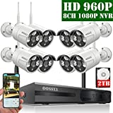 【2020 Update】 OOSSXX 8-Channel HD 1080P Wireless Security Camera System,8Pcs...