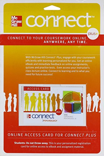 Connect Plus Psychology Access Card for Experience Psychology