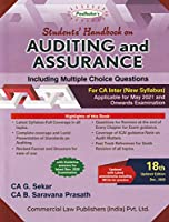 Padhuka's Student's Handbook on Auditing & Assurance Including MCQs for CA Inter - 18/edition, 2020