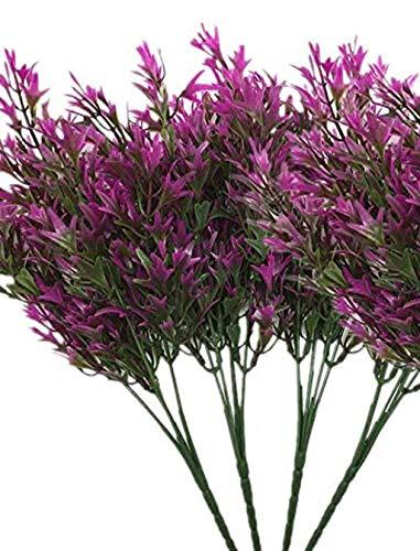 Balkonpflanzen Künstliche Pflanze Sträucher Plastikblumen Wetterfest Verblasst Nicht Innen Draußen Innenministerium Hochzeit Bürgersteig Garten und Dekor (Color : Purple)
