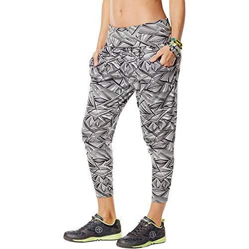 Zumba Capri Pantalon Harem de Entrenamiento Fitness Mallas de Deporte de Mujer, Smoke 0, L
