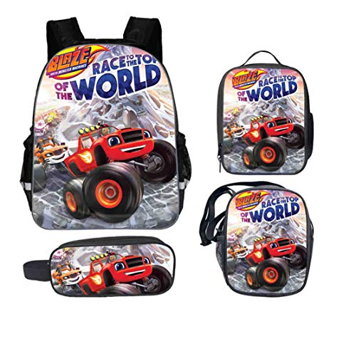 Kid Blaze and the Monster Machine Backpack+Lunch Box+Pencil Case+Shoulder Bag