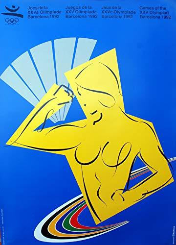 Barcelona 92 Poster 70x50cm Diseñado por Ricard Badia