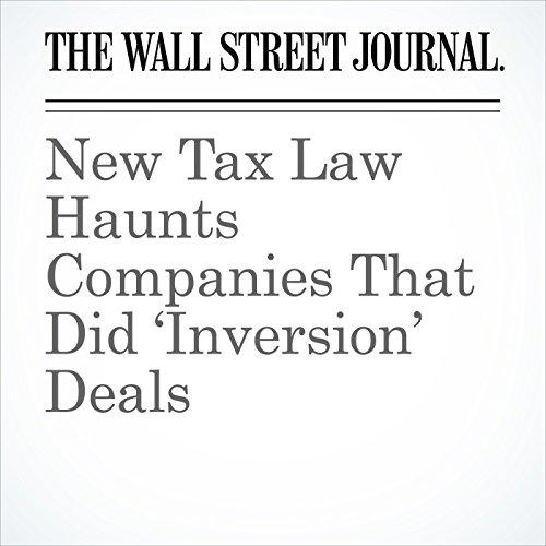 New Tax Law Haunts Companies That Did 'Inversion' Deals copertina