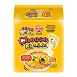 [OTTOGI] Cheese Ramen, KOREAN STYLE INSTANT NOODLE, Rich flavor with savory cheese (111g) - 4 Pack