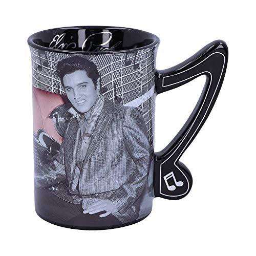 Weird Or Wonderful Elvis - Taza de cerámica coleccionable con licencia oficial Nemesis Now Elvis Presley The King of Rock and Roll (473 ml), diseño de Elvis Presley