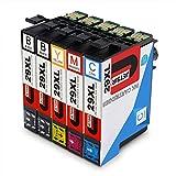 Contiene: cartucce compatibili Epson 29XL alta capacità (non originale prodotto), confezione da 5 (2 nero, 1 ciano, 1 magenta, 1 giallo) Compatibile con: Epson Expression Home XP-245 XP-255 XP-257 XP-235 XP-247 XP-332 XP-342 XP-345 XP-352 XP-355 XP-4...