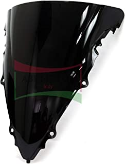 Protek ABS Plastic Injection Black Smoke Double Bubble Transparent Windscreen Windshield for 2003 2004 2005 Yamaha YZF R6 2006 2007 2008 2009 YZF R6S
