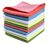 SINLAND Microfiber Dish Cloth for Washing Dishes Dish Rags Best Kitchen Cloths Cleaning Cloths with Poly Scour Side 5...