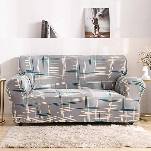 Funda de sofá Protector 2 plazas, Funda de sofá de Esquina Fundas de sofá elásticas para Sala de Estar, Funda de sillón Chaise Longue Bench Decoratio D 145-185cm