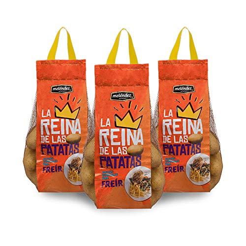 Lote Patatas La Reina para Freír 9kg | 3 mallas de 3kg