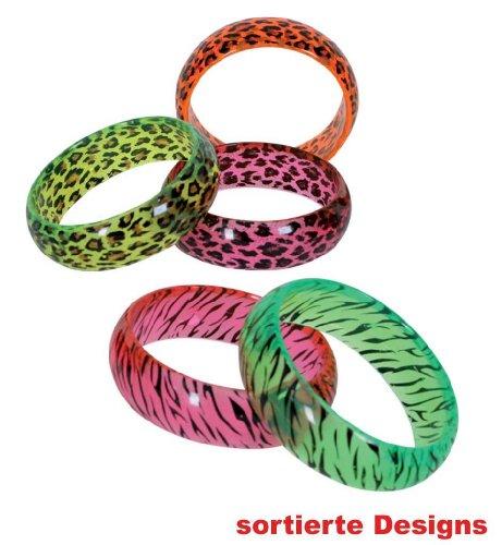 FRIES NEU Armreif Neon mit Tiger- oder Leopardenmuster