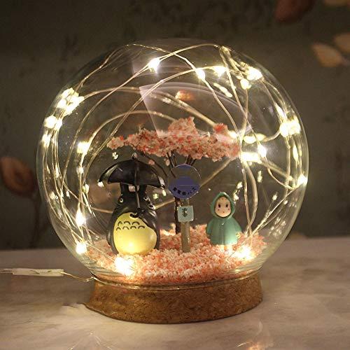 HBHHB Nachtlicht Für Kinder Cartoon Anime Lampe, Kawaii Kids Gift, Kreative Miniatur Wohnkultur(2 Optionnel),B