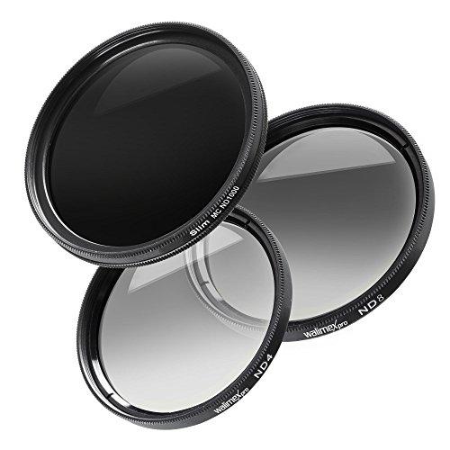 Walimex Pro Graufilter Komplett-Set (Durchmesser 67mm inkl. ND4, ND8 und ND1000, MC)