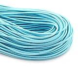BanHu - 10 mètres de bande élastique ronde - 2,8 mm de large - Cordon extensible pour la couture, les vêtements, le caoutchouc, le tricot, les loisirs créatifs 10m*2.8mm bleu