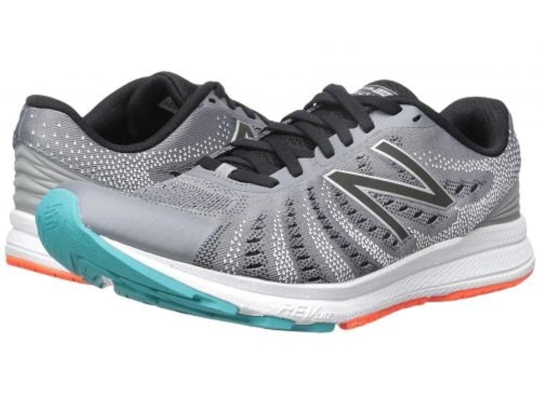 New Balance(ニューバランス) メンズ 男性用 シューズ 靴 スニーカー 運動靴 Rush V3 - Steel/Black/Pisces [並行輸入品]