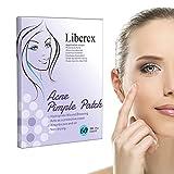 Liberex Patch per l'acne, Anti Acne Idrocolloide per Trattamento di Comedone, 12mm (60 pcs)