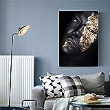 El póster de Pintura geométrica Abstracta en el Lienzo Circular Deja un póster nórdico y Decora la Sala de Estar con una Pintura Mural de 30x45 cm.