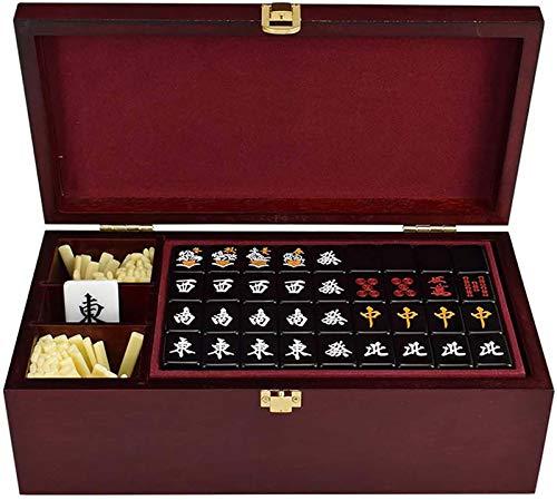 FGDFGDG Juego de Mahjong de Japón, producción de acrílico Saludable seleccionada, Caja de Regalo de Madera Juego de Viaje Mahjongg Juegos Regalos Entretenimiento
