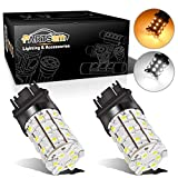 Partsam 2pcs 3057 3157 3357 3457 Switchback LED Turn Signal Light Bulbs White Amber Dual C...
