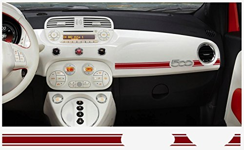 FIAT 500 Dashboard Decal 2 pcs. (red)