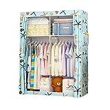 Armario Almacenaje Closet portátil, armario, organizador de almacenamiento de ropa con estantes, rieles colgantes, for dormitorio, apartamento, 105 * 45 * 170 cm Armario Tela PequeñO ( Color : 5 )