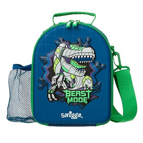 Smiggle Express Curve School Hardtop Lunchbox voor jongens en meisjes met twee compartimenten en riem marineblauw