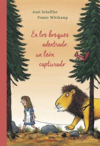 En los bosques adentrado, un león capturado (Rosa y manzana)