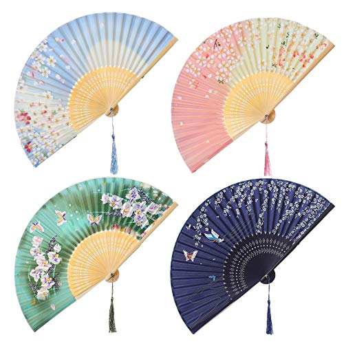Mejor 1Xjapanese Design Silk Handheld Folding Fan crítica 2020