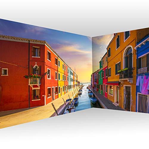 murando Carta da parati d\'Angolo Architettura 550x250 cm Fotomurali in TNT Murale alla moda Decorazione da Muro XXL Poster Gigante Design Carta per pareti Citta Lago Casa come dipinto d-B-0295-a-a