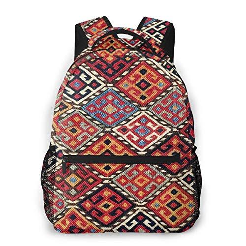 LNLN zaino casual verdeLesmus Kordi Sumakh Antique Khorasan Persian Tribal Bag Leisure Waterproof Computer Bag School Bag Travel Bag 8x11 5x16 in