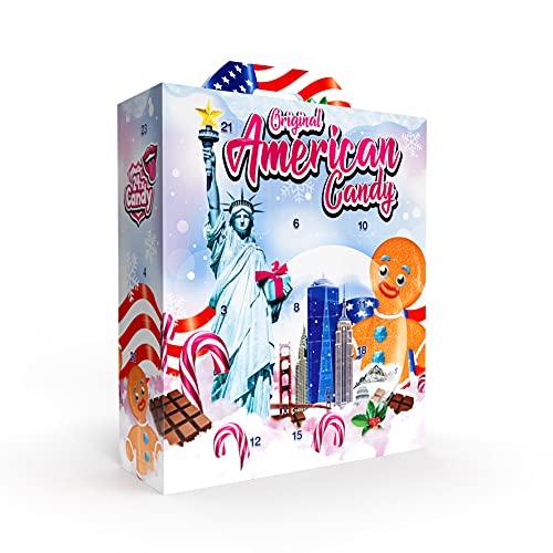 Amerikanischer Adventskalender mit Premium USA Süßigkeiten 2021