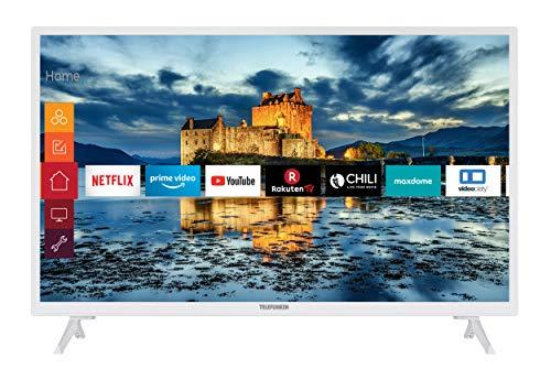 Telefunken XH32J511-W 32 Zoll Fernseher (Smart TV inkl. Prime Video / Netflix / YouTube, HD ready, Works with Alexa, Triple-Tuner) [Modelljahr 2021]