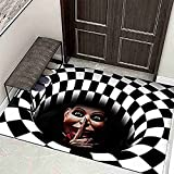 Kseyic Felpudo 3D Estéreo con visión de terror, figura...