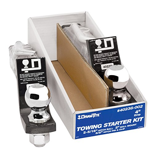 """Draw-Tite 40238-002- Towing Starter Kit, w/Quick-Loading 2"""" Sq. Ball Mount, 7,500 lbs. GTW, (2 Pack) -  Horizon Global Corp"""