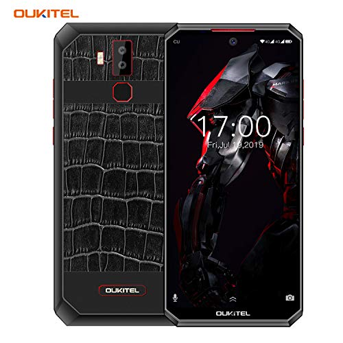 [11,000 mAh Akku Schnellladung] OUKITEL K13 Pro Dual 4G Handy ohne Vertrag, 6,41 Zoll FHD+ Smartphone Android 9.0, Octa Core 4GB RAM 64GB ROM, 16MP Kamera, NFC OTG Gesichtserkennung - Leder zurück
